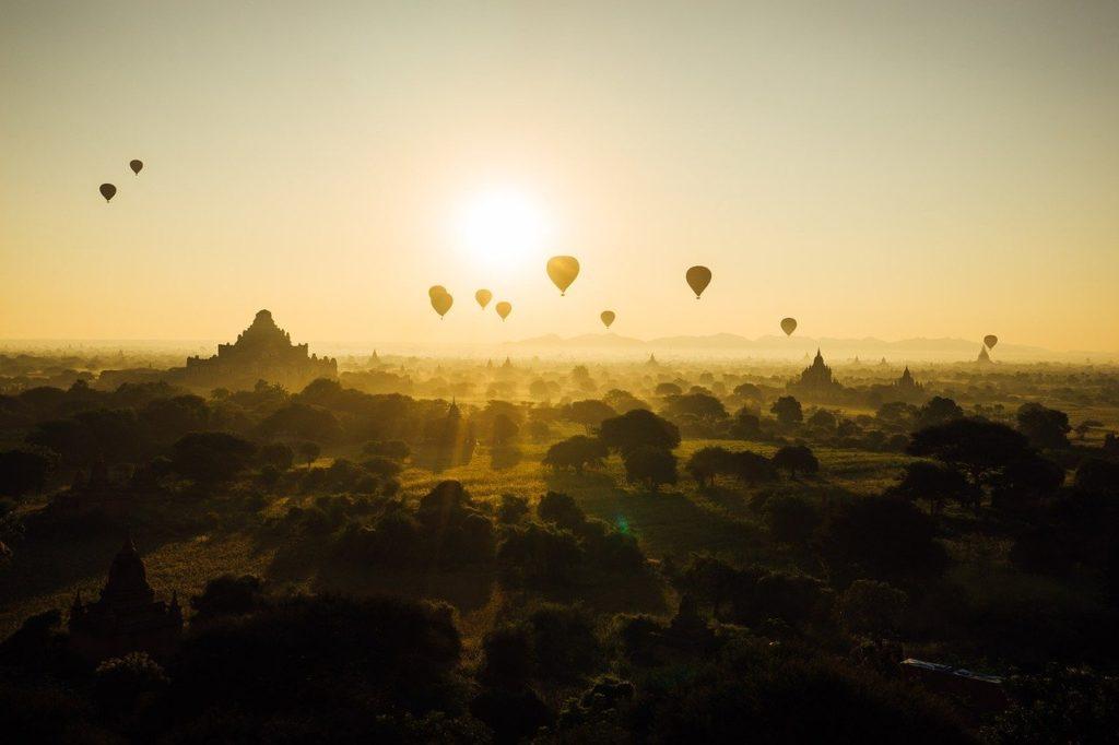 Hot Air Balloons Bagan Myanmar