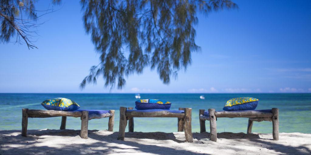Kinondo Kwetu Hotel 3 Beach Beds By The Ocean Galu Beach Diani Beach Kenya Kopia